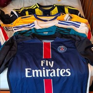 5 Soccer shirts